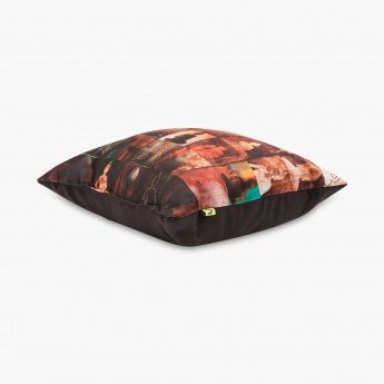 HOME CENTRE Aurora Buddha Print Filled Cushion - 30 X 30 CM