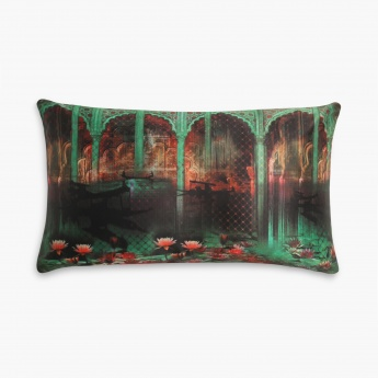 HOME CENTRE Aurora Floating Lotus Filled Cushion - 50 x 30 cm