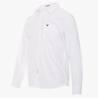 ALLEN SOLLY Solid Full Sleeves Shirt