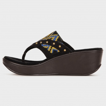 CATWALK Embroidered Wedges