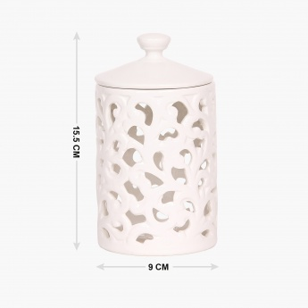 HOME CENTRE Hart Stoneware Candy Jar With Lid