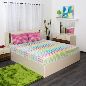SPACES Allure Printed Double Bedsheet Set