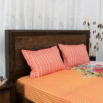 PORTICO CADENCE Printed Queen Size Bedsheet And Pillow Cover Set
