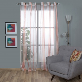 HOME CENTRE Aspen Sheer Window Curtain-Set Of 2-110 x 160 CM