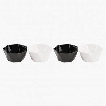 HOME CENTRE Silvano Diamond Bowls - Set Of 4