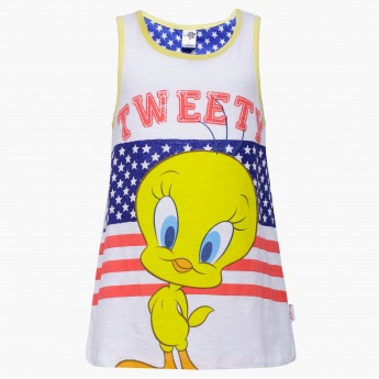 KIDSVILLE Tweety Bird Imprint Top