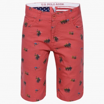 US POLO KIDS Printed Shorts