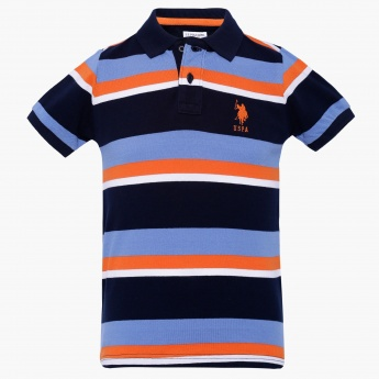 US POLO KIDS Striped Polo Neck T-Shirt