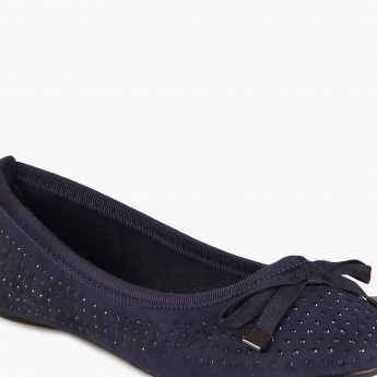 JUNIORS Bow Up Slip Ons Flats