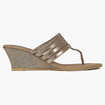 RAW HIDE Metallic Muse Wedge Heels