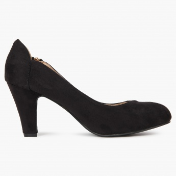 GINGER Zipper Detail Pumps