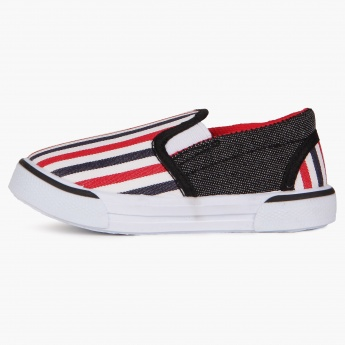 JUNIORS Stripe Band Slip Ons Shoes