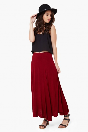 CODE Solid Maxi Skirt