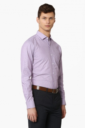 CODE Solid Full Sleeves Formal Shirt
