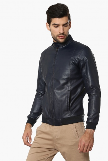 FORCA Faux Leather Full Sleeves Jacket