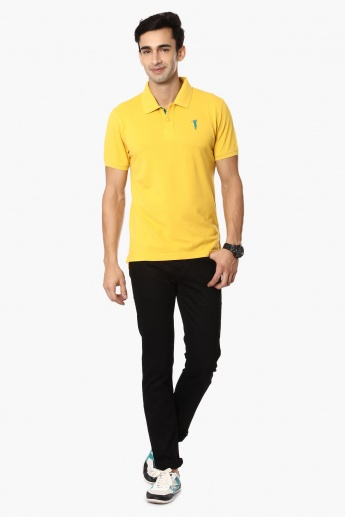BOSSINI Solid Polo Neck T-Shirt