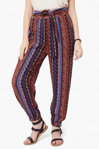 GINGER Printed Elasticated Ankle Pants