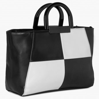 CODE Chequered Bracelet Handle Handbag