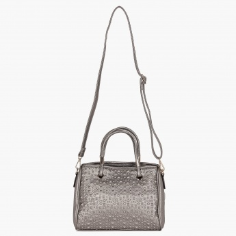 PAPRIKA Adjustable Straps Metallic Handbag