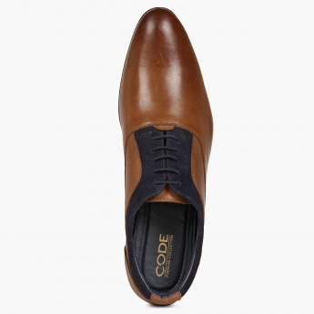 CODE Almond Toe Oxford Shoes
