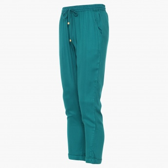 FAME FOREVER Solid Elasticated Waist Pants