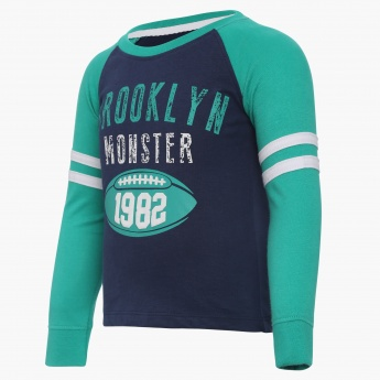 JUNIORS Brooklyn Monster Full Sleeves T-Shirt