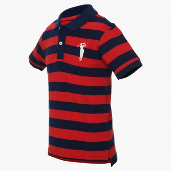 BOSSINI Striped Polo Neck T-Shirt