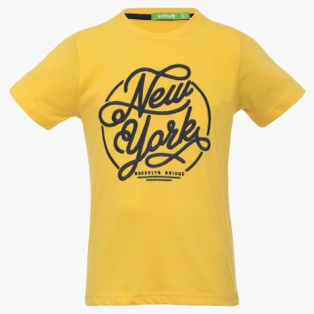 BOSSINI New York Imprint Crew Neck T-Shirt