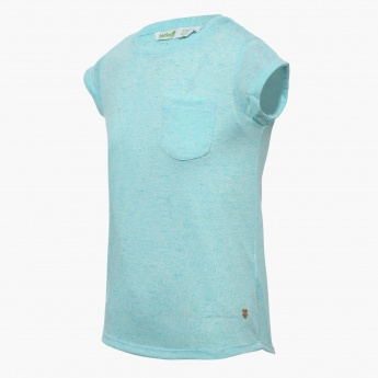 BOSSINI Patch Pocket Round Neck Top