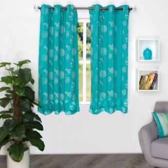 HOME CENTRE Jade Jacquard Window Curtain - Set Of 2 - 110 X 160 CM