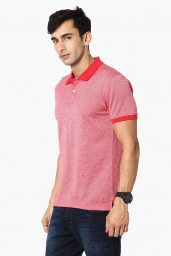 CODE Solid Polo Neck T-Shirt