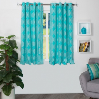 HOME CENTRE Matrix Griffin Black Out Window Curtain - Set of 2 - 135 X 160 CM