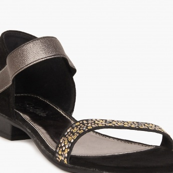 RAW HIDE Embellished Strap Sandals
