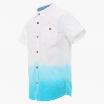 ALLEN SOLLY Two-Tone Half Sleeves Shirt