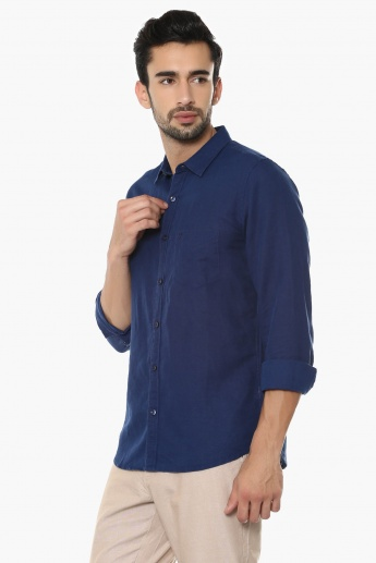 UNITED COLORS OF BENETTON Full Sleeves Linen Shirt
