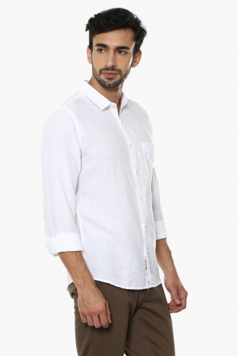 UNITED COLORS OF BENETTON Solid Linen Shirt