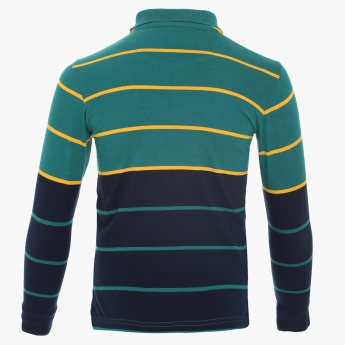 U.S. POLO ASSN. Striped Polo Neck T-Shirt