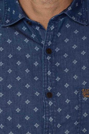 U.S. POLO ASSN. Printed Denim Shirt