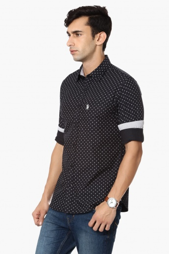 U.S. POLO ASSN. Diamond Print Casual Shirt