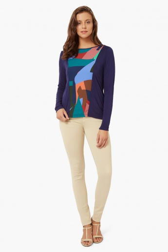 UNITED COLORS OF BENETTON Graphic Print Top