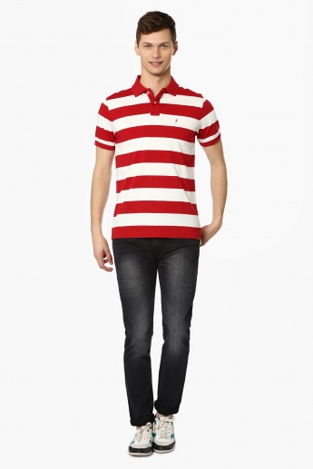 INDIAN TERRAIN Striped Polo Neck T-Shirt