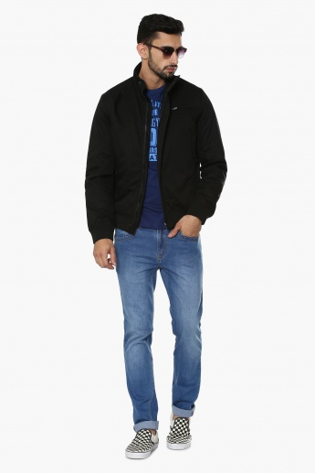 CELIO Solid High Neck Jacket
