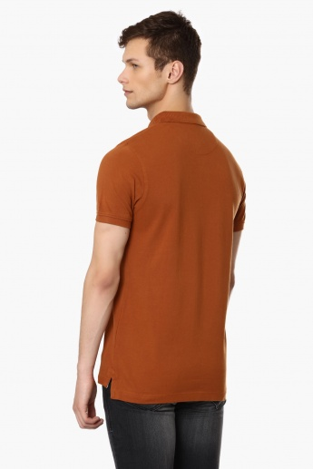 INDIAN TERRAIN Solid Polo Neck T-Shirt