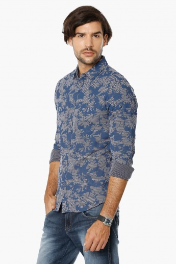 UNITED COLORS OF BENETTON Full Sleeves Slim Fit Shirt