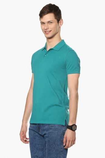 UNITED COLORS OF BENETTON Solid Polo Neck T-Shirt