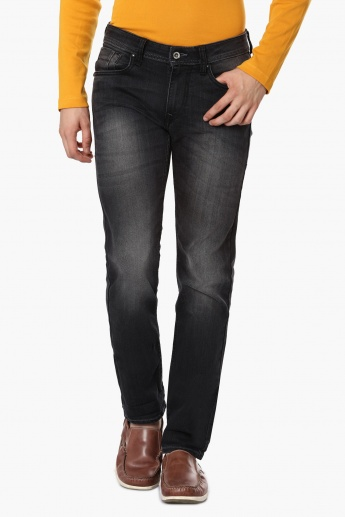 FLYING MACHINE Stonewashed Slim Fit Jeans