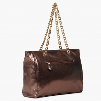 LAVIE Metallic Mix Chain Strap Handbag