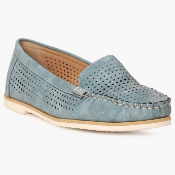 GINGER Perforated Slip-Ons