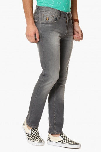 U.S. POLO ASSN. Stonewased Slim Fit Jeans