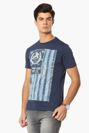 U.S. POLO ASSN. Graphic Print Crew Neck T-Shirt